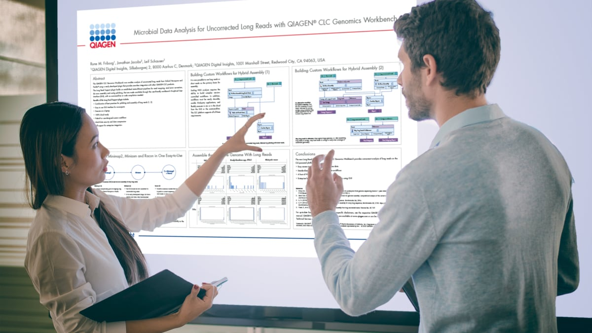 Microbial data analysis for uncorrected long reads with QIAGEN CLC Genomics Workbench