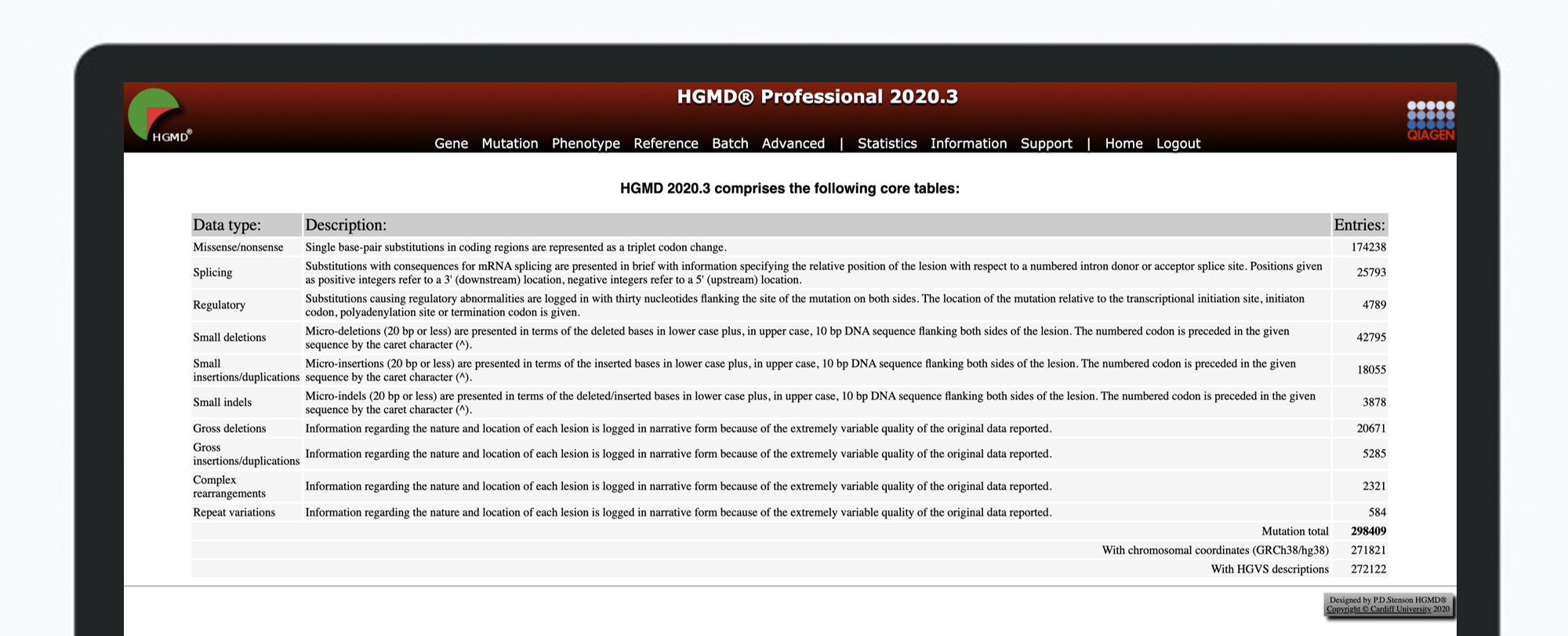HGMD Professional 2020.3 Release